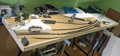 N gauge model railway layout