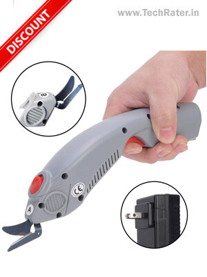 Electric Scissors for Cutting Fabric, Leather, and Cardboard