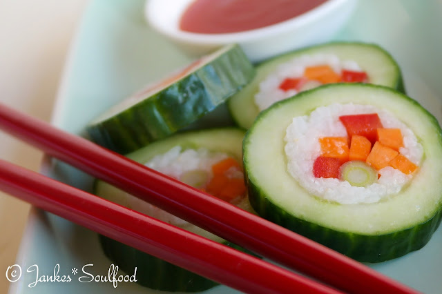 Cucumber Sushi Rolls von Jankes*Soulfood