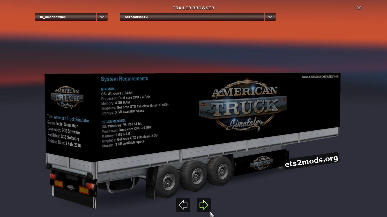 SCS Truck Simulator Trailer Pack v 3.0