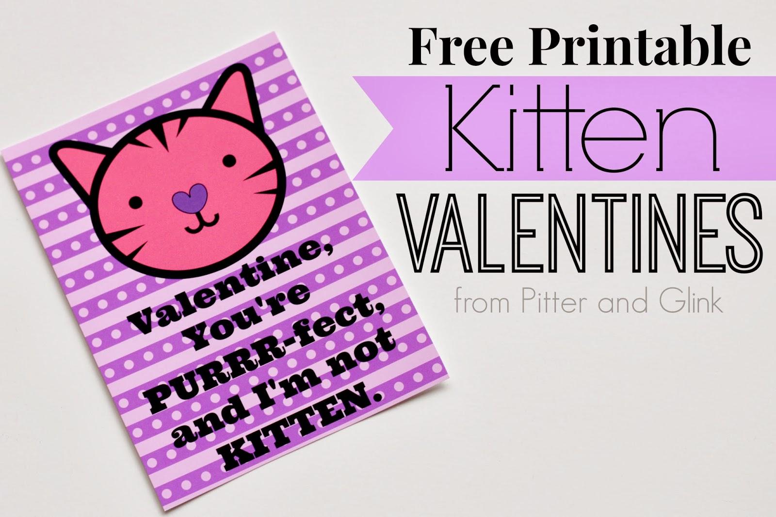 Pitterandglink Free Printable Valentine Bookmarks