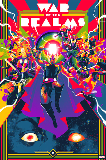 "Marvel Comics ""The War of the Realms"" Screen Print by Matt Taylor x Mondo"