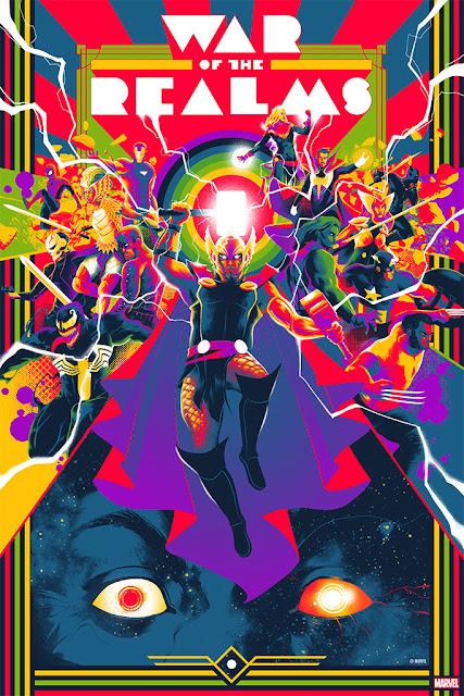 "Marvel Comics ""The War of the Realms"" Screen Print by Matt Taylor x Mondo"