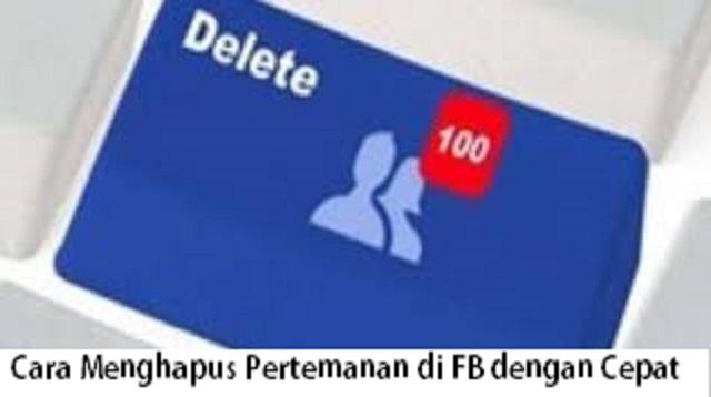 Cara Menghapus Pertemanan di FB dengan Cepat
