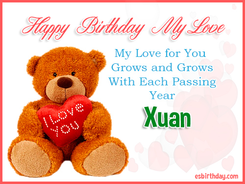 Xuan Happy Birthday My Love