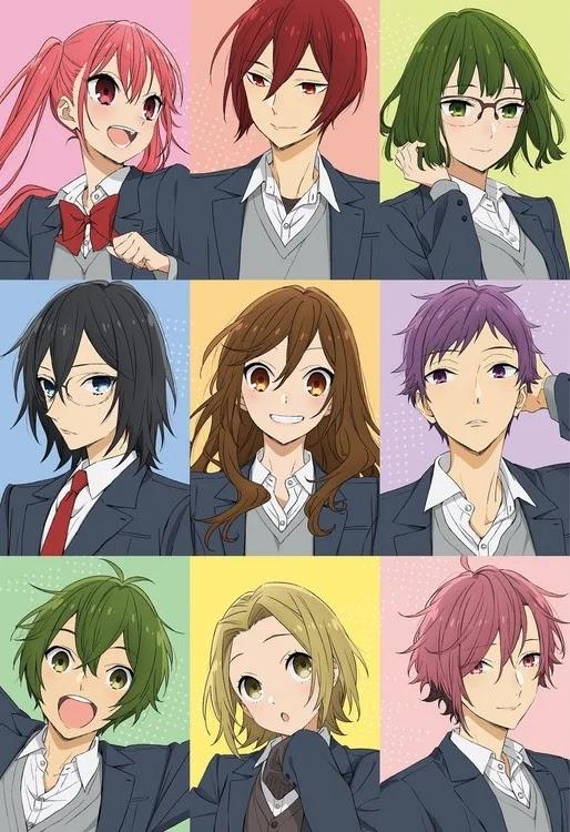 El anime de Horimiya anuncia 9 nuevas voces.