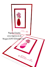 Vibrant Vases Note Pad Cover Stampin' Up! Nigezza Creates