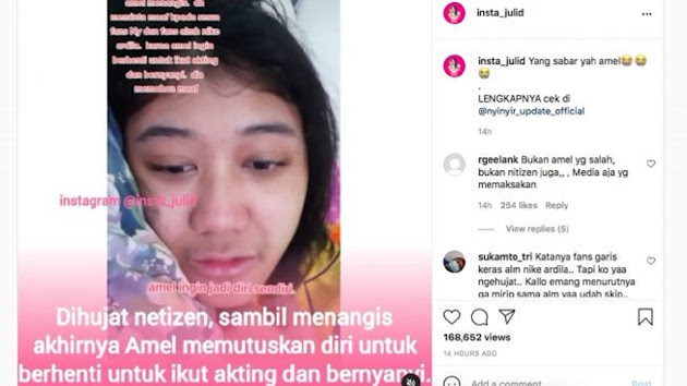 Tak Tahan Dihujat, Amel Gadis yang Mirip Nike Ardila Berhenti Berakting dan Bernyanyi, Netizen: Yang Bilang Mirip Sampai Viral Netizen, Udah Viral Dihujat Ngga Ngerti Lagi