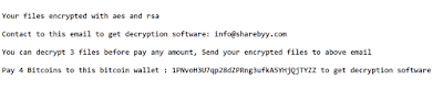 InfoDot Ransomware note