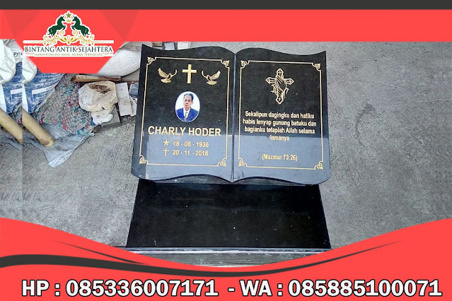Contoh Batu Nisan Katolik, Batu Nisan Katolik Marmer, Model Batu Nisan Katolik