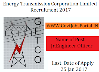 Energy Transmission Corporation Limited Recruitment 2017 – 65 (Jr. Engineer Officer) Post