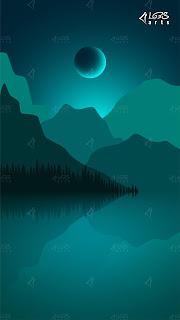 Shining Moon At The Lake A