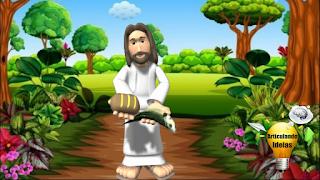 Jesus com pão e peixe