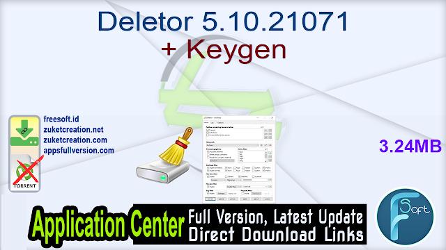 Deletor 5.10.21071 + Keygen