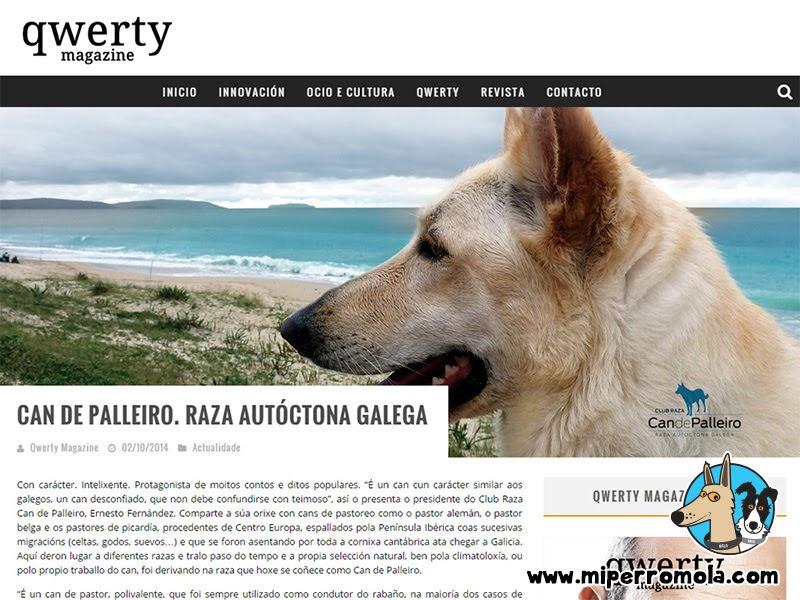 Can de Palleiro en la portada de QWERTY MAGAZINE