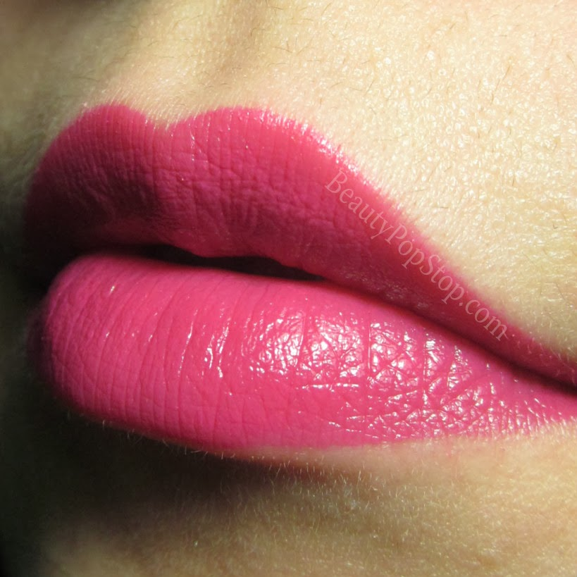 milani lip intense liquid color pink rave swatch