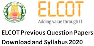 ELCOT Previous Question Papers Download and Syllabus 2020 – Manager