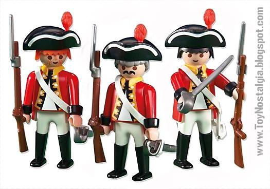 """Playmobil 3544, Los """"casacas rojas"""" guerra de independencia  (Playmobil 3544 - redcoats)"""