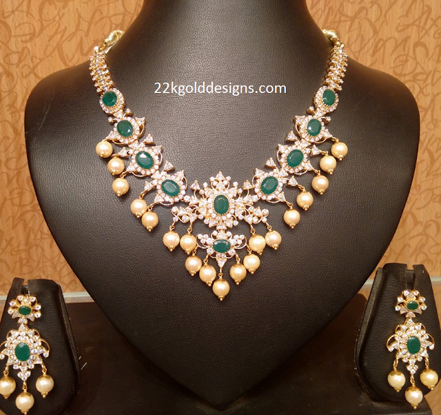 Light Weight Emerald CZS Necklace