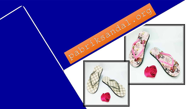 Sandal Teplek Sablon Termurah- Sandal AMX Spon Motif- Bunga Wanita