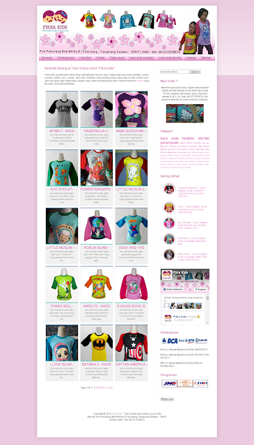 Toko Online Fikra Kids: Kaos Raglan Anak Karakter dan Muslim