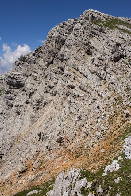 Zweitätige Wanderung im Gesäuse von Gsatterboden zum Buchsteinhaus und weiter über den Südwandband Klettersteig auf den Großen Buchstein - Abstieg