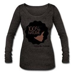 100% Natural Afro Tri-Blend Long Sleeve T-Shirt