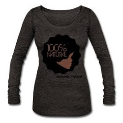 100% Natural Afro Tri-Blend Long Sleeve T-Shirt