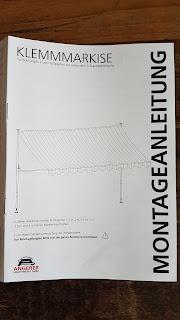 Montageanleitung für die Angerer Klemmmarkise Dralon
