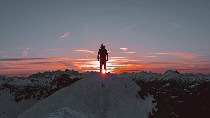 Pôr do Sol, Sozinho, Montanhas, Contemplação