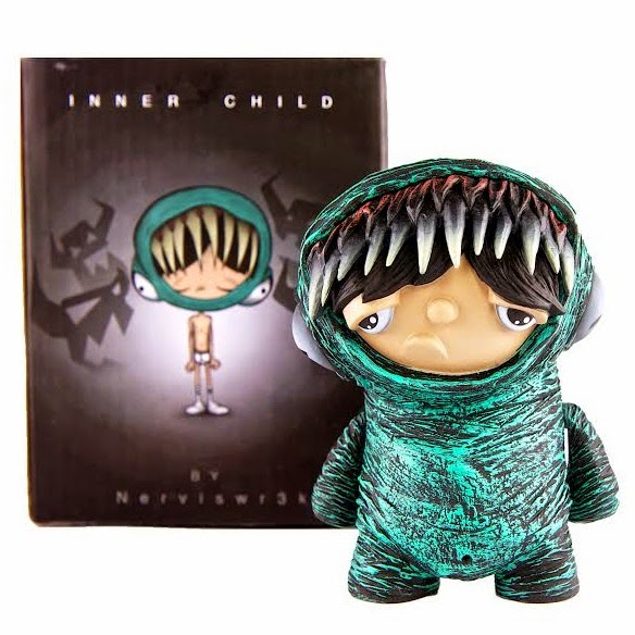 SubUrban Vinyl Exclusive Green Inner Child Vinyl Figure by Nerviswr3k