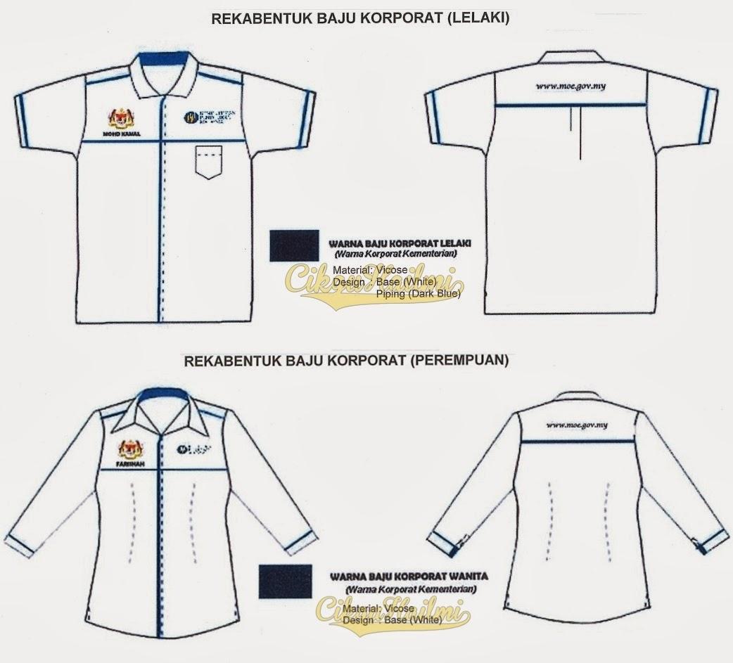 457fc7c94 Baju Korporat Rasmi Kementerian Pendidikan Malaysia. Antara lain ...