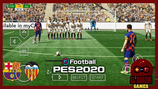 تحميل لعبة PES 2020 PPSSPP Camera PS4 للاندرويد psp Offline باخر الانتقالات بصيغة iso من الميديا فاير