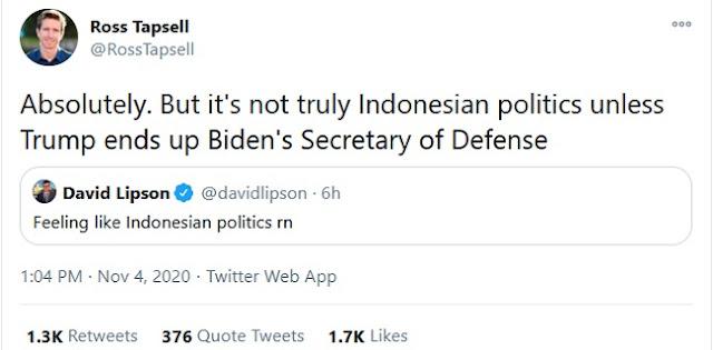 Trump Duluan Klaim Menang, Kepala Biro ABC News Sebut Pilpres AS 'Rasa' Indonesia