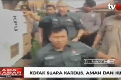Live di Tv, Uji Coba Kekuatan Kotak Suara Kardus, Hampir Jebol Diduduki Petugas KPU
