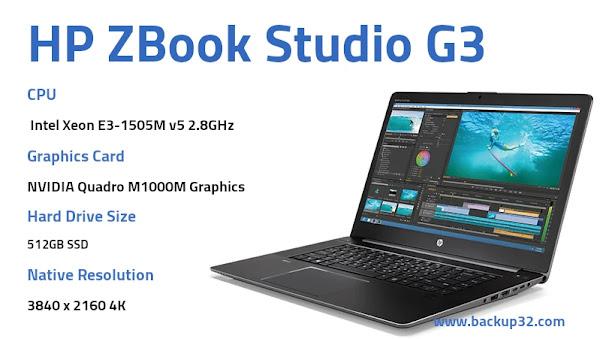 مراجعة لاب توب HP ZBook Studio G3
