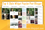 New Best 5 Style Widget Popular Post Blogger