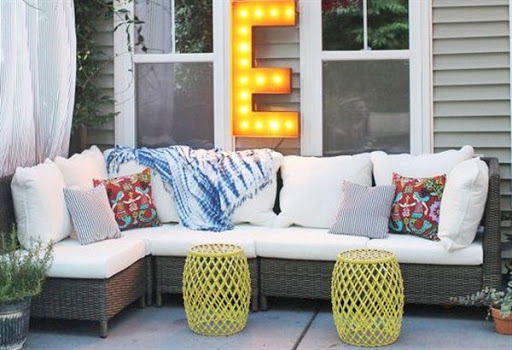 Outdoor sofas and sectionals for small spaces