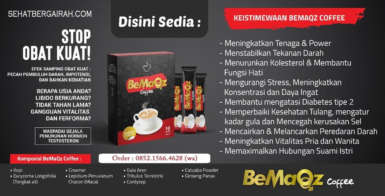 BeMaQz Coffee, KOPI JANTAN, KOPI REMPAH, kopi herbal, kopi stamina,