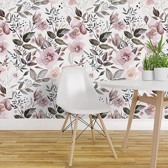 Bold floral patterns evoke a vintage vibe