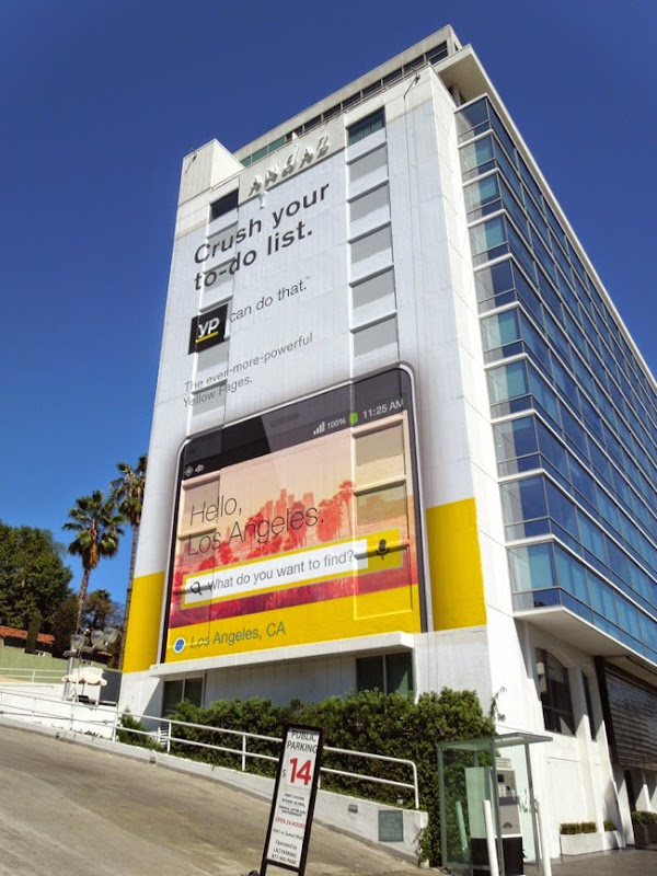 Yellow Pages Crush your to-do list billboard
