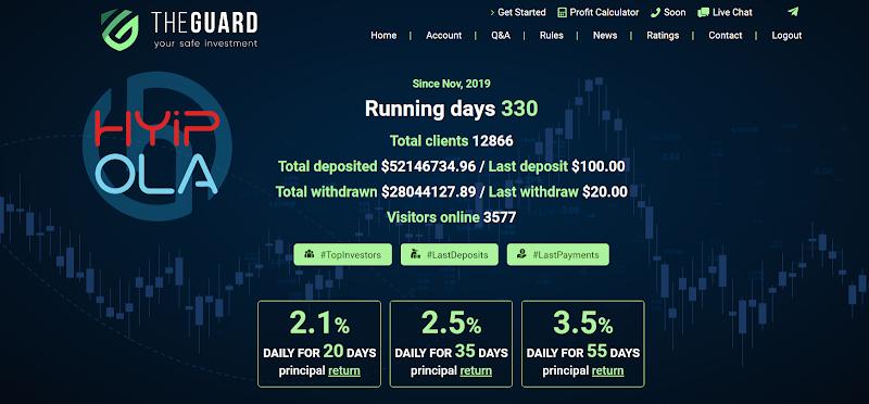 [SCAM] Review TheGuard - Dự án đầu tư lãi từ 2.1% hằng ngày - Thanh toán Manual