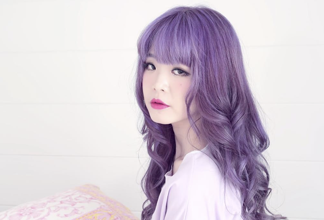purple hair pastel violet lavender lilac