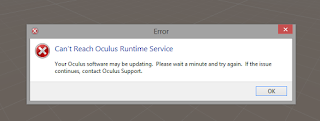 can't reach oculus runtime service