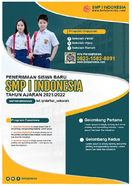 Free File : Download Contoh Brosur SMP Sekolah Menengah Pertama Gratis