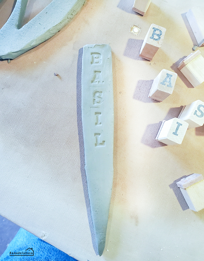 How to make ceramic herb markers for your garden
