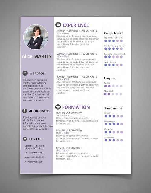 resume template design ideas 2017 free