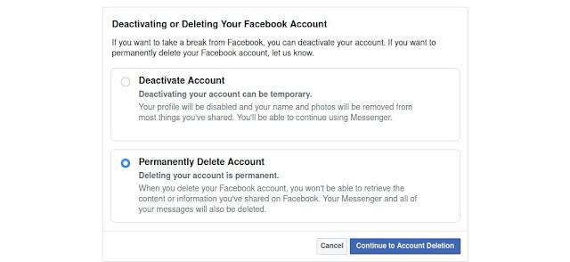 borrar tu cuenta de facebook permanentemente