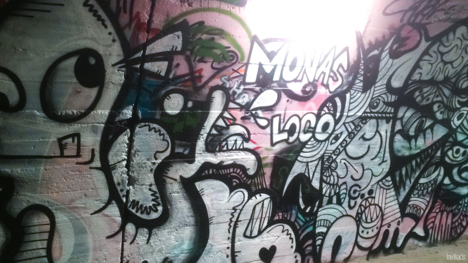 Seoul, Korea - Summer Study Abroad 2014 - Sinchon Edae Graffiti Tunnel art
