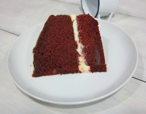Porción de tarta Red Velvet